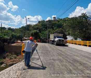Año nuevo: puente nuevo para el municipio de El Guamo en Bolívar - El Universal - Colombia