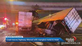 Crash shuts down portion of Highway 401 near Allen Road for 14 hours