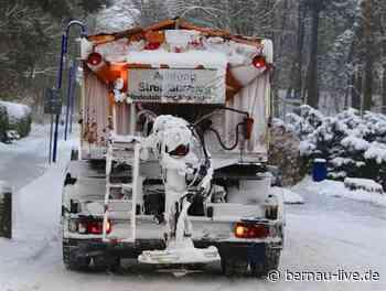 Kostenfreie Winterdienst-Hotline der Stadt Bernau bei Berlin - Bernau LIVE