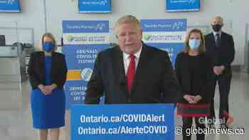 Coronavirus: Ford says Ontario is 'running out' of COVID-19 vaccines
