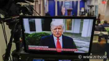 """""""Wir lieben euch"""": Trump fordert seine Anhänger zum Rückzug auf"""