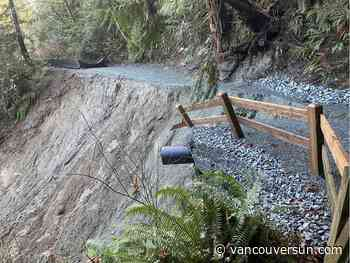 Landslide shuts Capilano Pacific Trail in West Vancouver