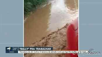 Moradora de Monte Mor registra estrada sem pavimento coberta de lama após chuva; vídeo - G1
