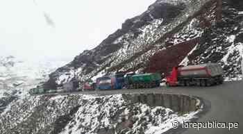 La Oroya: Carretera Central permanece bloqueada por caída de nevada - LaRepública.pe