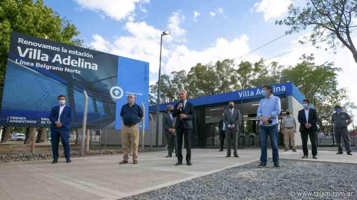 Inauguraron la remodelada estación Villa Adelina del tren Belgrano Norte - Télam