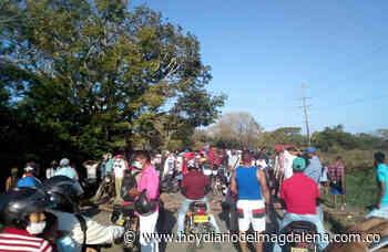Por falta de agua bloquearon la vía El Banco- Guamal - Hoy Diario del Magdalena