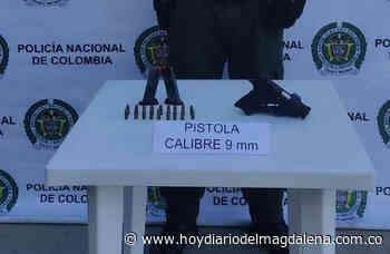 Incautan un arma de fuego, 2 proveedores y 18 cartuchos en Sitionuevo - HOY DIARIO DEL MAGDALENA