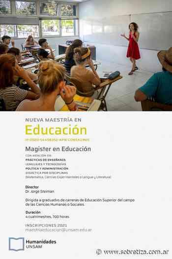 Nueva Maestría en Educación de la Universidad Nacional de San Martín - Sobre Tiza