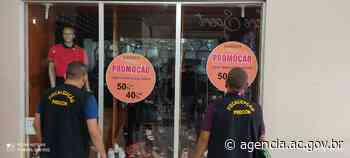 Procon fiscaliza lojas com promoções em Rio Branco e Cruzeiro do Sul - Agência de Notícias do Acre