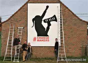 Muurschilderij zet 11.11.11 in de kijker - Het Nieuwsblad