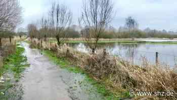 Mildstedt: Regen sorgt für erste Überschwemmungen   shz.de - shz.de