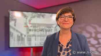 """SPD-Chefin im """"ntv Frühstart"""": Esken erwartet lang anhaltende Einschränkungen"""