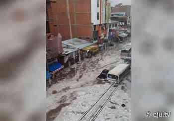 Lluvia y granizada causa susto en la ciudad de Sucre - eju.tv