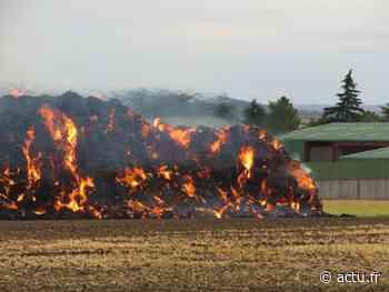 Yvelines. Incendie de ballots de paille à Chavenay : la D 307 fermée à la circulation - actu.fr