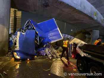 Truck driver arrested after North Vancouver crash