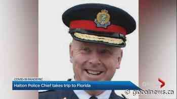 Halton police chief apologizes after being caught abroad during coronavirus lockdown