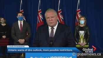 Premier Doug Ford warns worst days of COVID-19 could be ahead