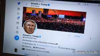 Sperrung auf Dauer: Twitter nimmt Trump das Konto weg