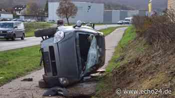 Heilbronn/Zaberfeld: schwerer Unfall! Auto überschlägt sich - echo24.de