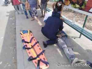 TOSAGUA: Hombre queda herido tras el impacto de una camioneta   El Diario Ecuador - El Diario Ecuador
