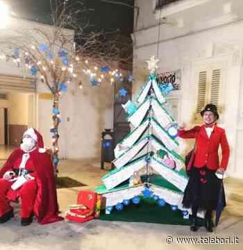 """Bari, a Carbonara si accende """"l'albero della speranza"""": è fatto interamente di libri - Telebari srl"""
