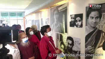 Glimpses from the inauguration of the exhibition on legendary actor Soumitra Chatterjee on Day 2 of Kolkata International Film Festival