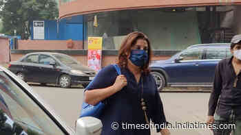 Farah Khan, who celebrates her 56th birthday today, was seen outside a salon in Juhu