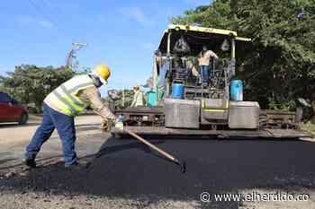 Pavimentación Manzanillo del Mar-Punta Canoa avanza en un 62%: Blel - EL HERALDO
