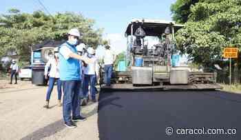 Rehabilitación de vías a Manzanillo y Punta Canoa tienen un 60% de avance - Caracol Radio
