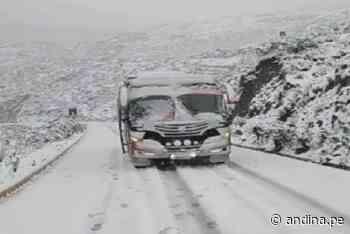 Intensa nevada afecta vía Carhuaz–Chacas-San Luis en la sierra de Áncash - Agencia Andina