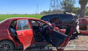 Carambola entre 5 carros en carretera deja un lesionado en Los Mochis. - Sinaloahoy