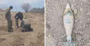 Realizan la detonación controlada del proyectil de mortero hallado en Rocafuerte | El Diario Ecuador - El Diario Ecuador