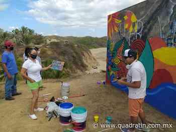 En marcha, rescate de murales en El Bejuco por autoridades de LC - Quadratín - Quadratín Michoacán