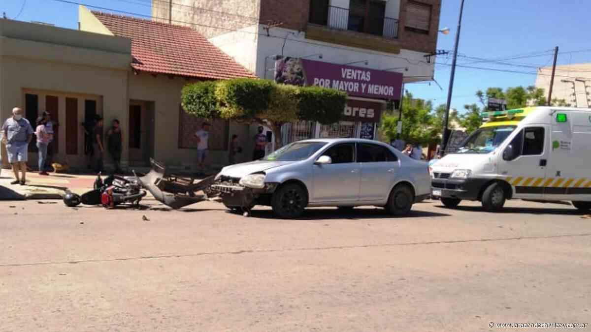 Choque en Av. Urquiza e Ituzaingo - La Razon de Chivilcoy