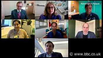 Prince William's video call with NHS staff at Homerton Hospital
