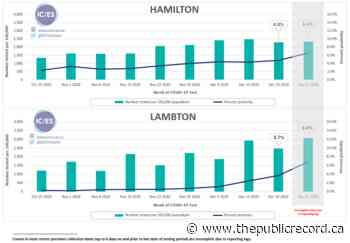 ICES: Hamilton COVID Positivity Rate Increases to 6.72% at end of 2020 - thepublicrecord.ca