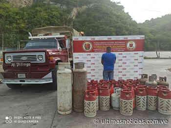 En Guanta GNB retiene camión con 265 cilindros de gas en la Troncal 9 - Últimas Noticias