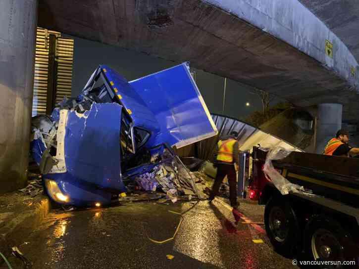 Truck driver arrested after North Vancouver crash - Vancouver Sun