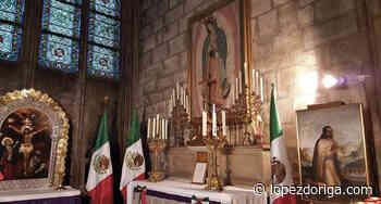 La capilla de la Virgen de Guadalupe en Notre-Dame - Foto de Twitter - López-Dóriga