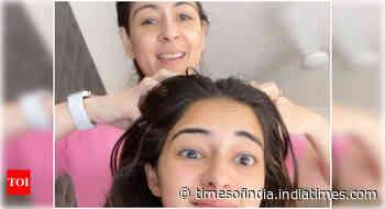 Ananya's 'Sunday Champi' session with mom
