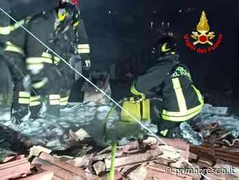 Nella notte brucia il tetto di una casa a Passirano - Prima Brescia