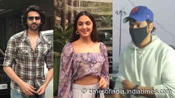 Varun Dhawan, Kartik Aryan, Kiara Advani and others make a style statement as they get spotted in the city! Check out