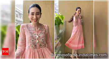 Karisma Kapoor is a bundle of happiness in pink