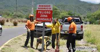 Realizaron trabajos de delimitación y señalización en el río El Tala - Vía País