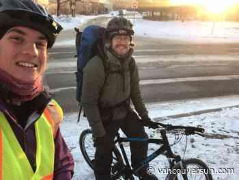 Winter wayfarer pedals over plains, plateaus to raise awareness of overdose crisis