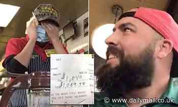 'Are you for real?!' Moment stunned Waffle House server is reduced to tears after getting $1k tip