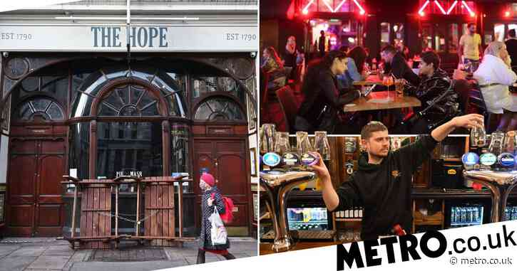 Pubs 'may not open until May' as No 10 considers extending lockdown