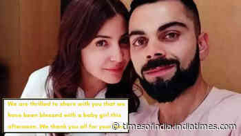 Good News!! Anushka Sharma and Virat Kohli welcome baby girl, 'mother and baby both are healthy' informs elated father