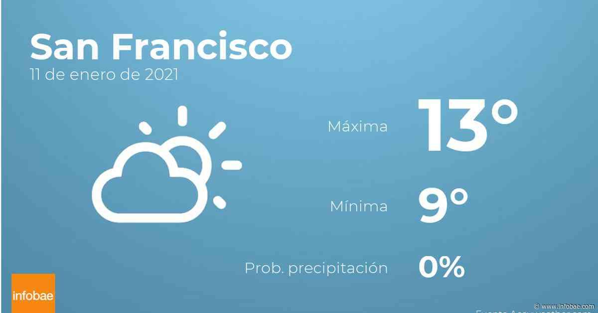 Previsión meteorológica: El tiempo hoy en San Francisco, 11 de enero - infobae