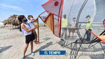 Playas de Puerto Colombia y Salgar, con canecas traga plásticos - El Tiempo